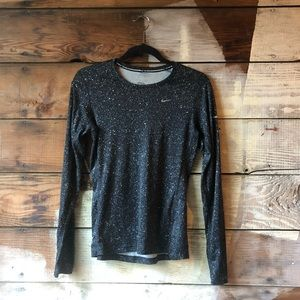 Nike Size Small Long Sleeve Dri-Fit Top Speckled